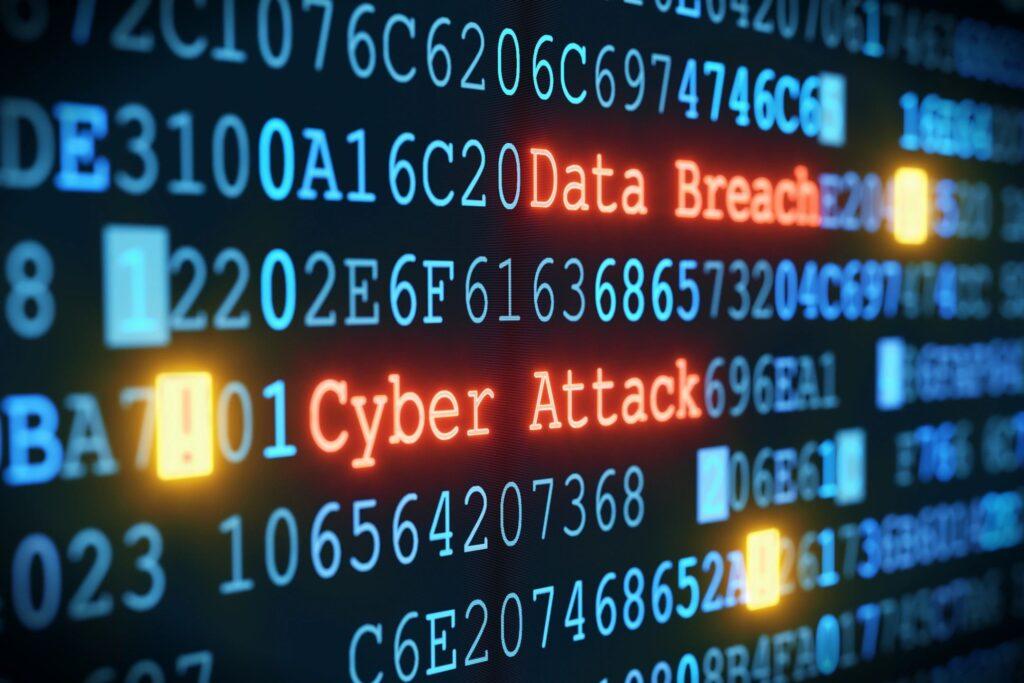 cyberattack stock photo
