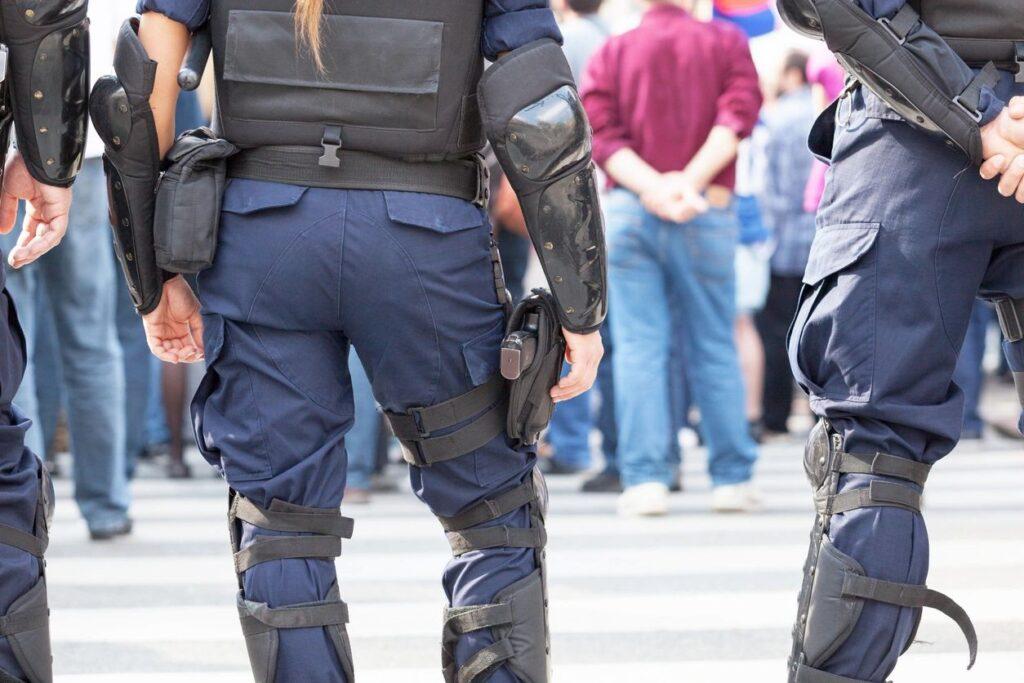 armed men standing